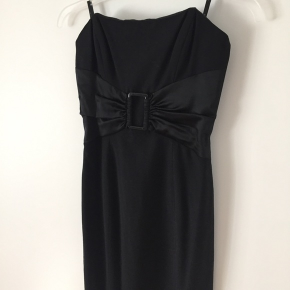 bebe Dresses & Skirts - bebe black strapless dress XS